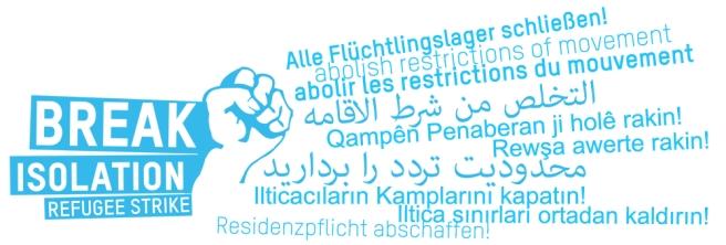 Flüchtlingsmarsch nach Berlin september 2012