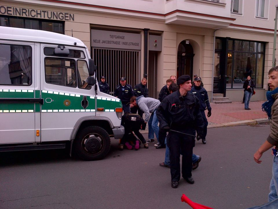 Photo by Ibo Che - Police Brutality outside the nigerian embassy 15.10