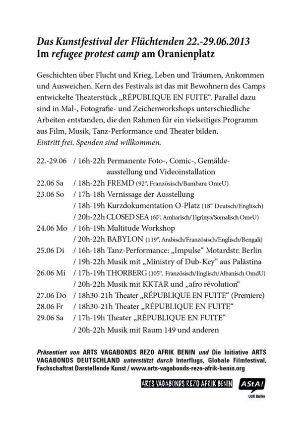 22.06.2013 - Flyer Republik en Fuite verso