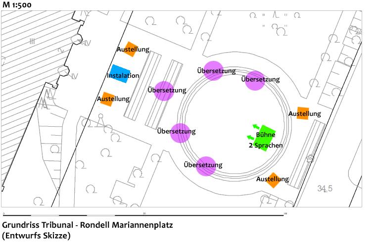 Grundriss Tribunal Mariannenplatz