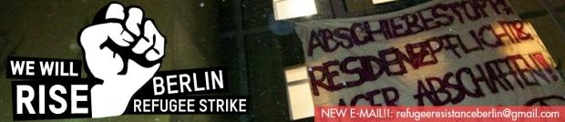 Banner – Refugee Strike Berlin