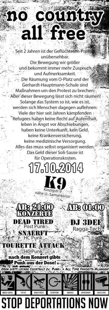 Soliparty 17.10.2014 in der K9  (Kinzigstraße 9, Friedrichshain)