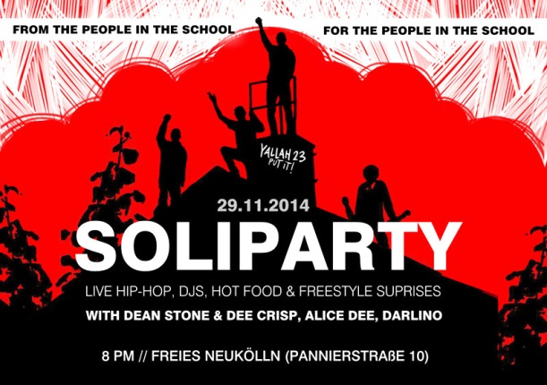 picture of a flyer for Soli Party at Freies Nukölln