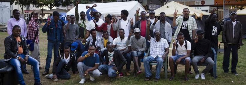 Refugee protest Camp Hannover