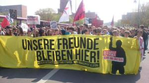 picture from the school strike on 24th of April against the further worsening of asylum laws in germany