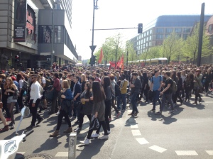 picture from the school strike in Berlin on 24th of April against the further worsening of asylum laws in germany