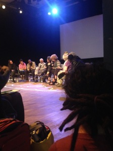 panel discussion with Angels Davis and Gina Dent at werkstatt der Kulturen