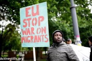 Rally for the dead of the European Border Politics