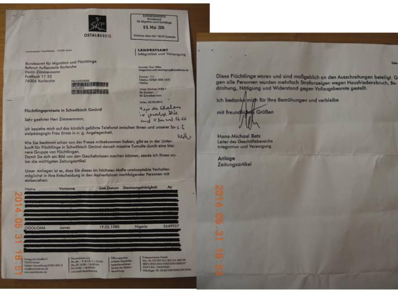repression letter