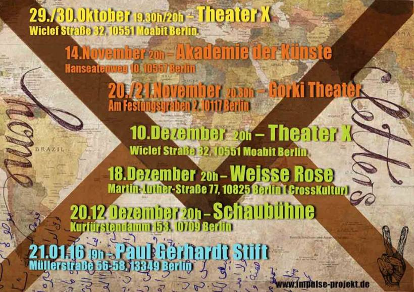 Impulse Refugee Theatre Project Dates from October to January 2016