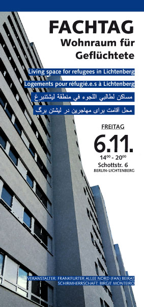 Living space for refugees in Lichtenberg