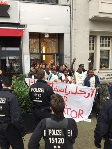 Protest sudanese embassy berlin