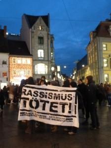 Protest in Erfurt gegen Abschiebungen