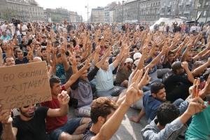 Syrian refugees in Budampest
