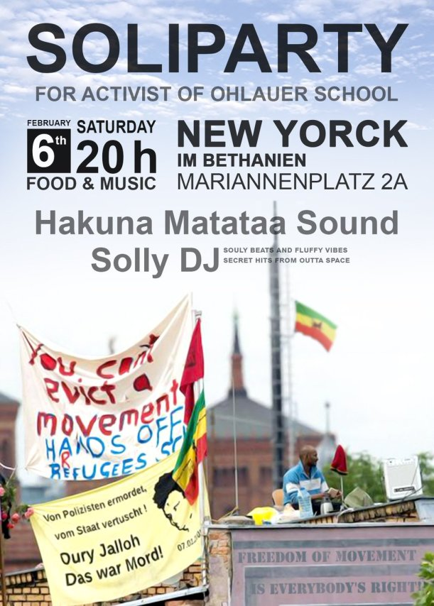 Soliparty for activist of Ohlauer School