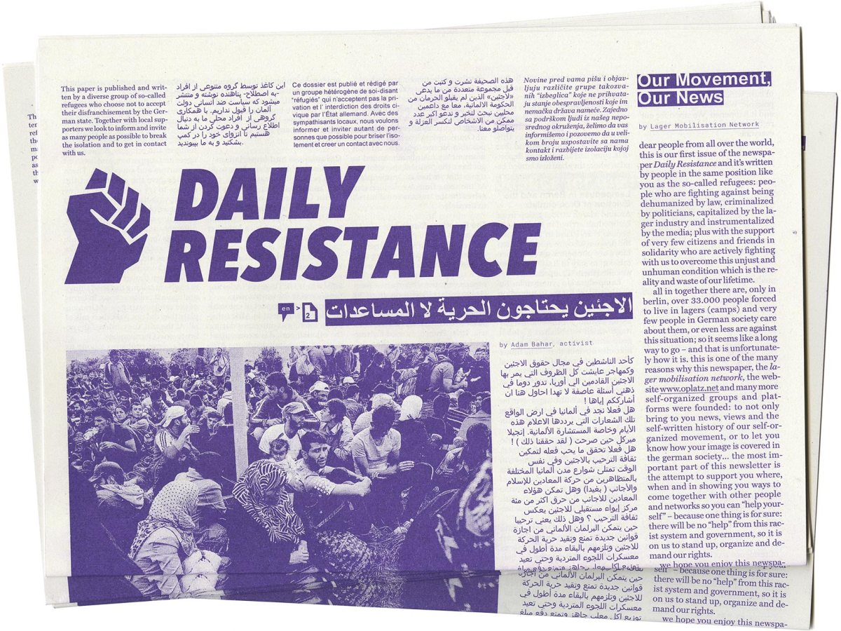 The first issue of the newspaper ›Daily Resistance‹ is now out!